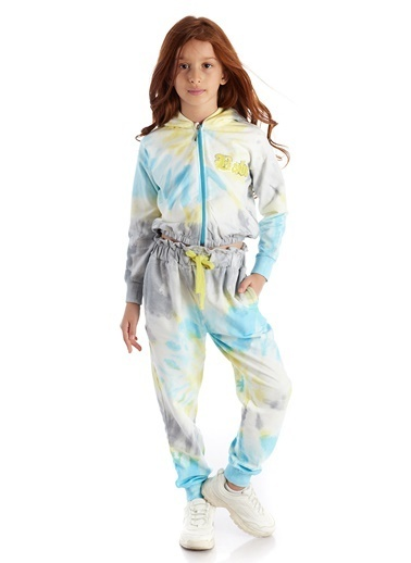 Colorinas Batik Kapişonlu SweaT-Shirt Renkli
